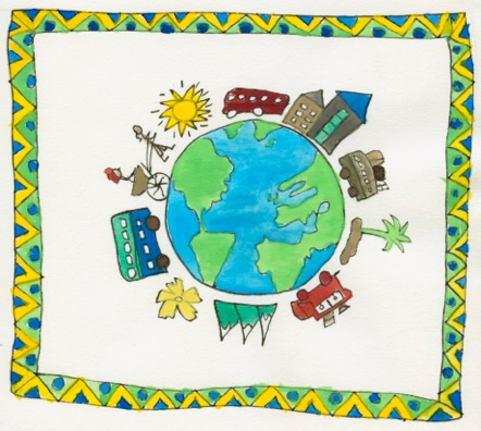 TrIP Blog Day 15: Busing Around the World - Text by Geoff Benge, Illustration by Janna Benge