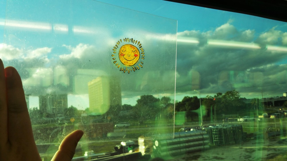 sun shine on my window